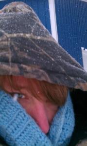 Too cold!  Get back inside!